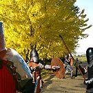 Knights in Action  by David  Preston