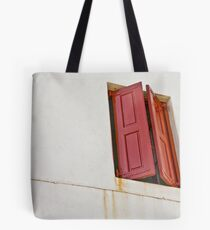 Red Shutters Tote Bag