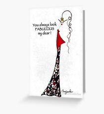 Always Fabulous in Red Greeting Card