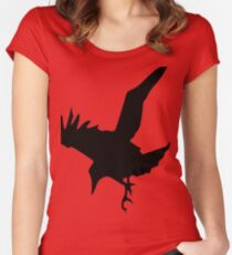 Raven A Halloween Bird Of Prey Women's Fitted Scoop T-Shirt
