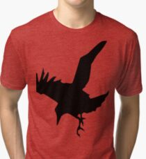 Raven A Halloween Bird Of Prey Tri-blend T-Shirt
