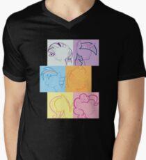 6 Main_squares 2 Mens V-Neck T-Shirt