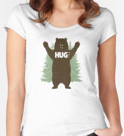 Bear Hug (Light) Women's Fitted Scoop T-Shirt