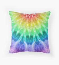 Rainbow Tie Dye 2 Throw Pillow