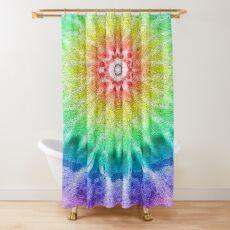 Rainbow Tie Dye 2 Shower Curtain