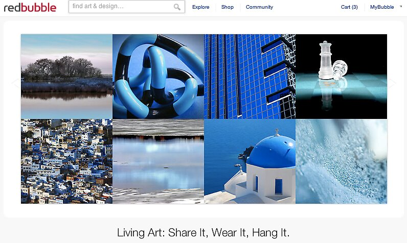 Blue Hue - 9 August 2011 by The RedBubble Homepage