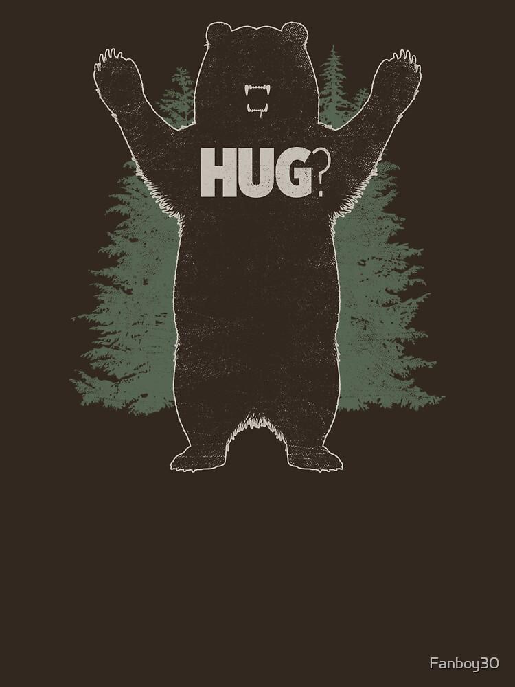 Bear Hug (Dark) T-Shirt  by Fanboy30