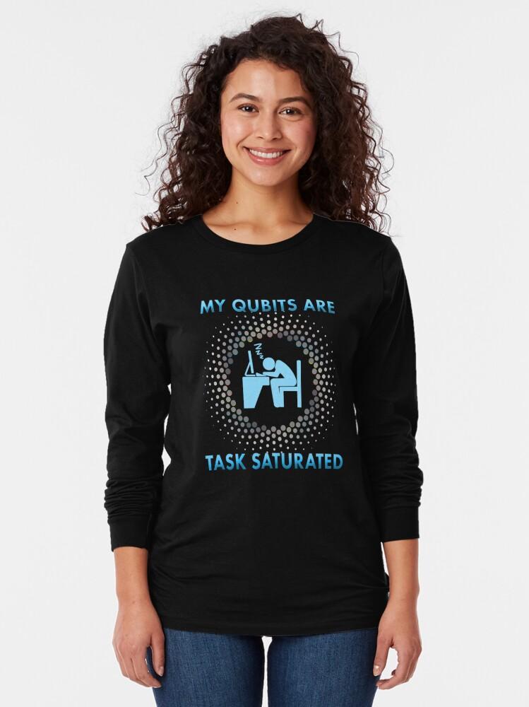 Alternate view of Qubits. Long Sleeve T-Shirt