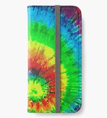 Tie Dye Rainbow Stained Glass iPhone Wallet/Case/Skin