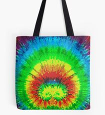 Tie Dye Rainbow Stained Glass Tote Bag