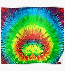 Tie Dye Rainbow Stained Glass Poster