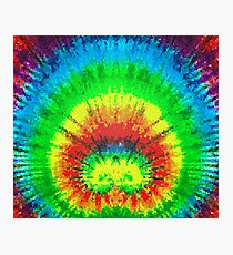Tie Dye Rainbow Stained Glass Photographic Print