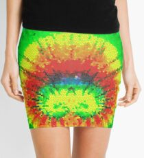 Tie Dye Rainbow Stained Glass Mini Skirt