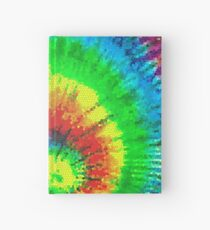 Tie Dye Rainbow Stained Glass Hardcover Journal