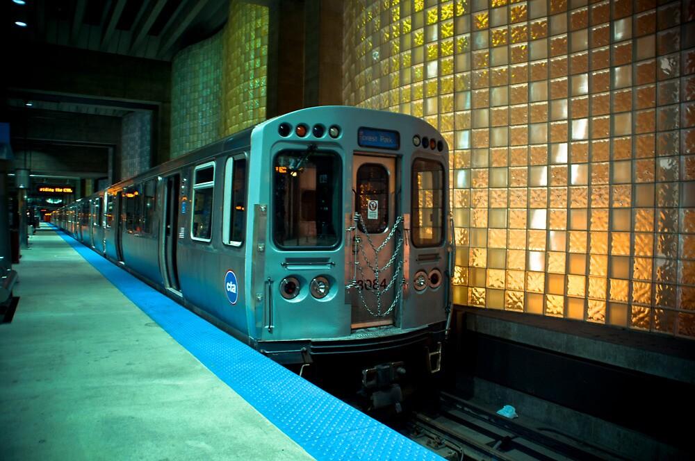 A Blue Line Train to Forrest Park by John Cruz