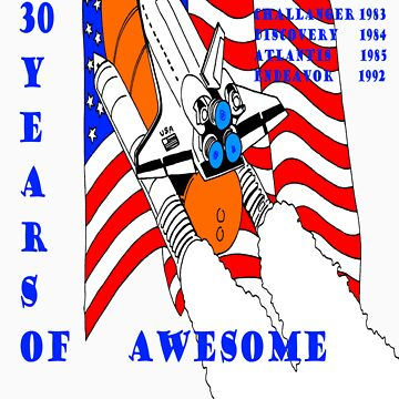 Space Shuttle - 30 yrs of Awesome - Nasa by Jedimaster73