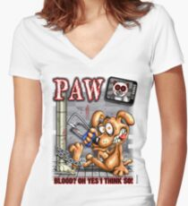 PAW (parody) Women's Fitted V-Neck T-Shirt