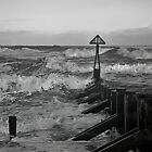 North Sea Storm in Black and White by Violaman
