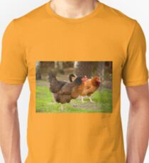 brown Rhode Island Red hens Unisex T-Shirt
