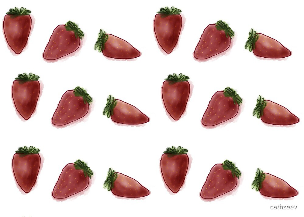 Strawberries for all by cathzeev