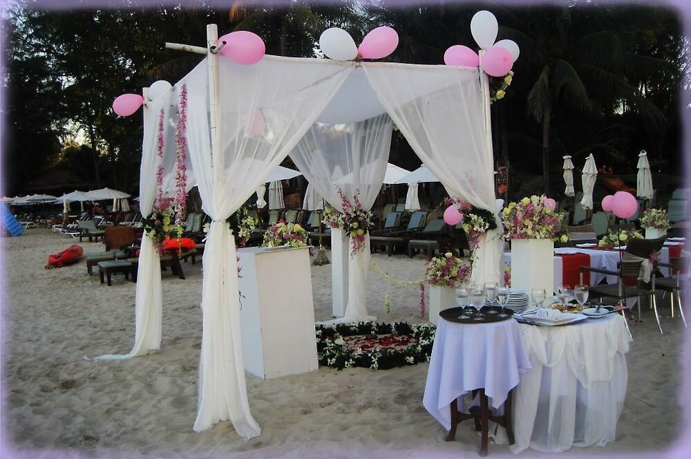 Beach Wedding Setup by DAdeSimone