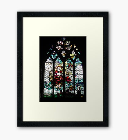 Stained Glass Window in Chester Cathedral Framed Print