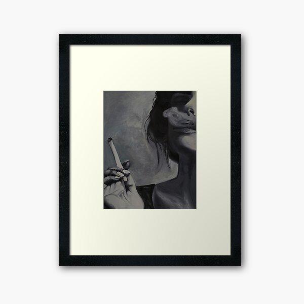 The Smoker Oil Painting Framed Art Print