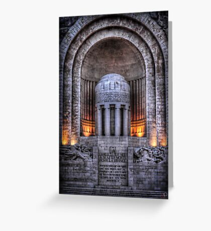 Monument aux Morts Nice Greeting Card