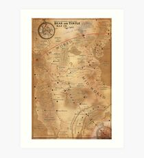 The Dark Tower - Mid-World Map Art Print