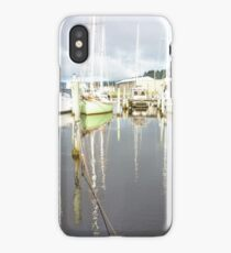 Boat Reflections at Franklin iPhone Case/Skin