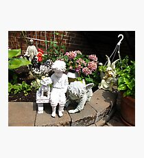 How many garden sculptures can one fit in a garden? Photographic Print