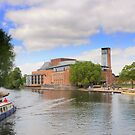 RSC Theatre, River Avon, Stratford Upon Avon, by PhillipJones
