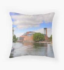 RSC Theatre, River Avon, Stratford Upon Avon, Throw Pillow