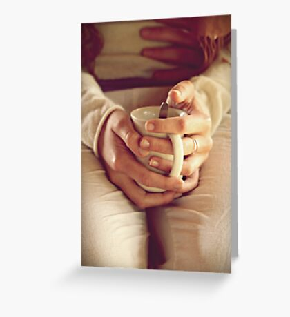 letting pieces go   Greeting Card