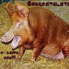 Congratulations Greetings Card by Astrid Ewing Photography
