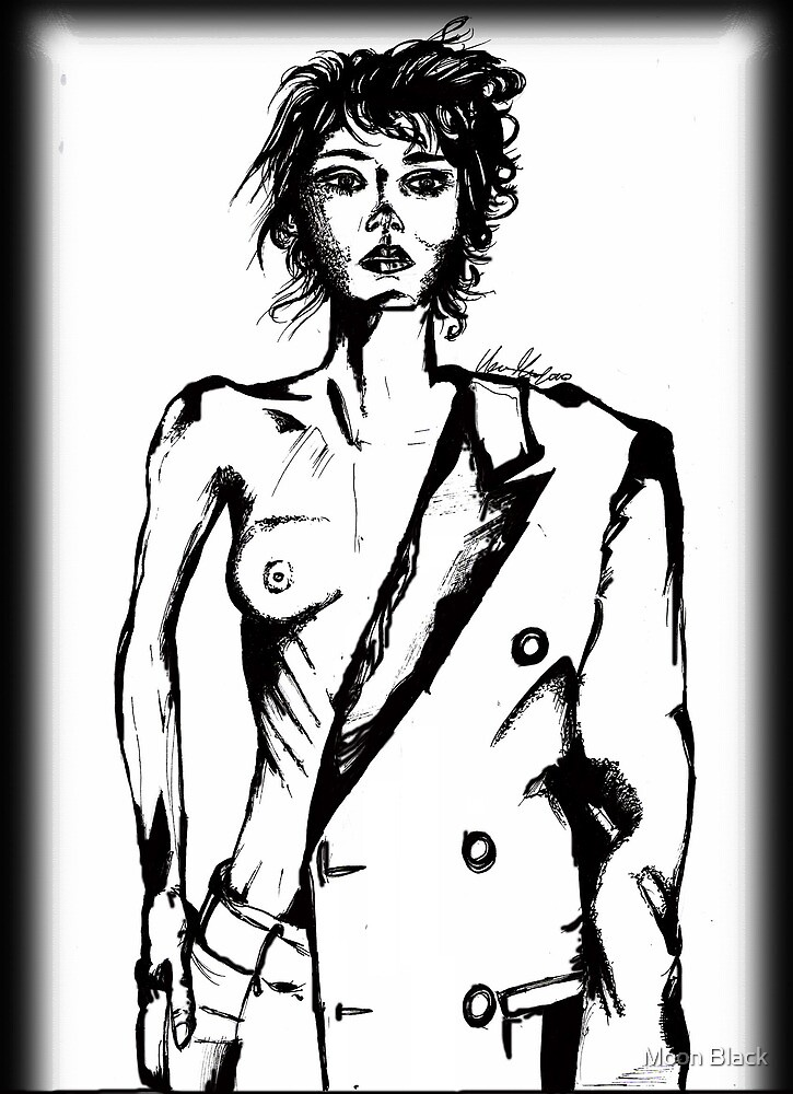 In the Modern (half nude study) by Moon Black