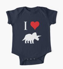 I Love Dinosaurs - Triceratops (white design) Kids Clothes