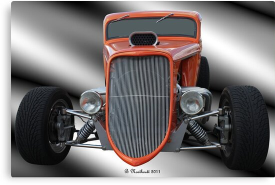 1933 Ford Roadster - Hotrod Version Of Scream by Betty Northcutt