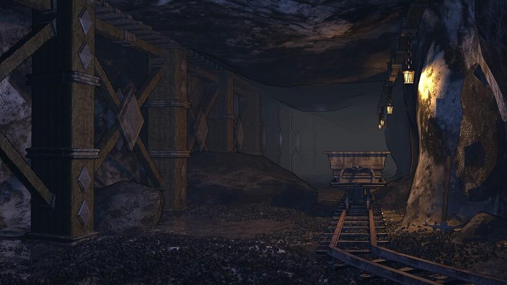 A dwarven mine by TGDigitalART