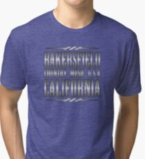 Silver Bakersfield Country Tri-blend T-Shirt