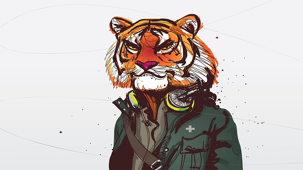 The human tiger by Duck2g