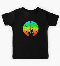 Colorful Guitar,Moon,Stars Kids Clothes