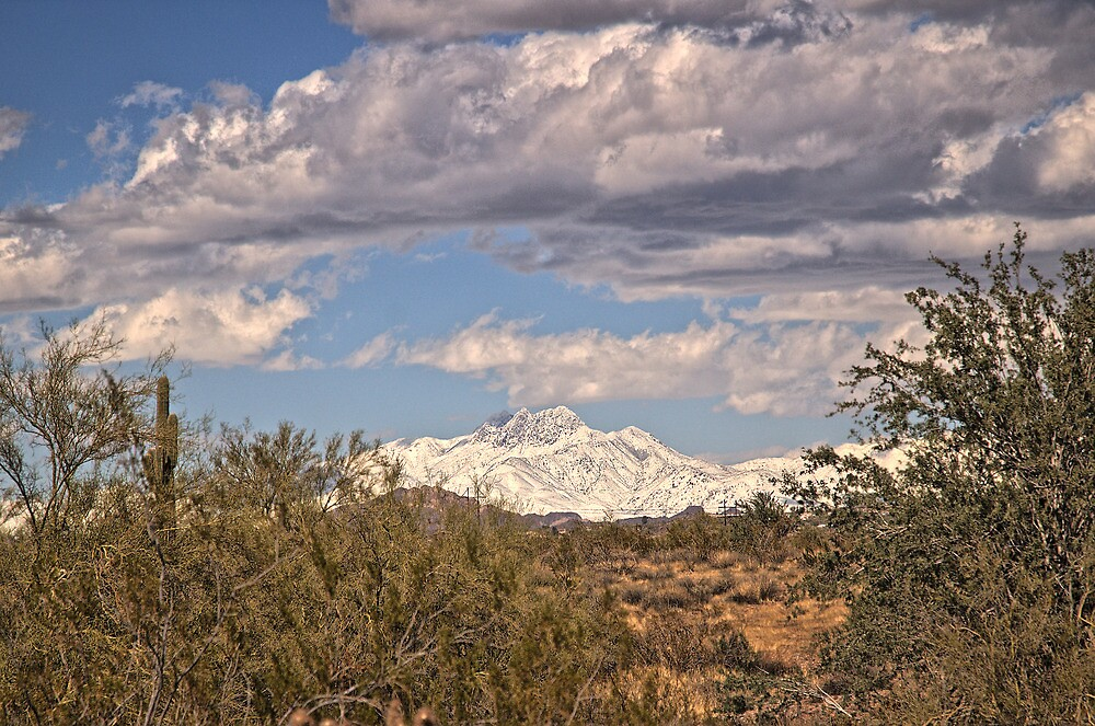 Four Peaks from Lost Dutchman State Park by DeNuni