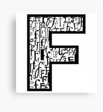 Letter F, white background Canvas Print