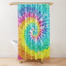 Rainbow Tie Dye 3 Shower Curtain