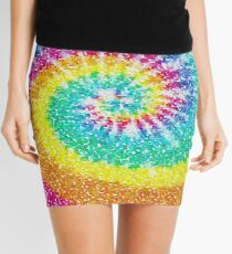 Rainbow Tie Dye 3 Mini Skirt