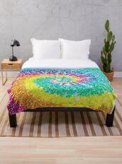 Rainbow Tie Dye 3 Throw Blanket