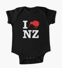 I Love New Zealand (Kiwi) white design Kids Clothes