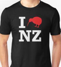 I Love New Zealand (Kiwi) white design T-Shirt
