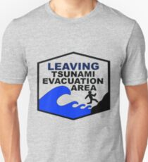Tsunami Evacuation Area shirt from Hawaii Unisex T-Shirt